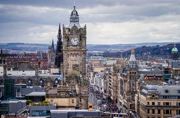Stunning views over the city of Edinburgh, Scotland