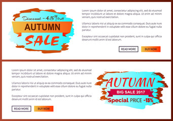 Autumn Discount -45 clearance with Icon on Poster