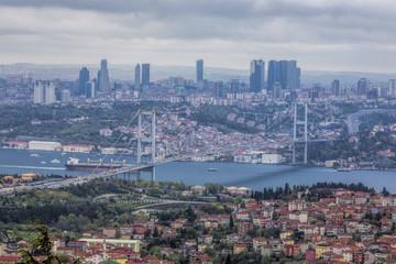 Cityscape Bospurus Bridge