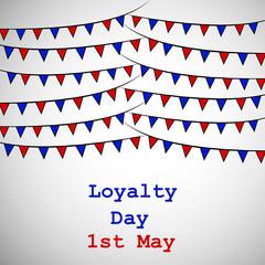 Illustration of USA Loyalty Day background