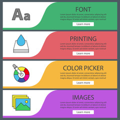 Printing web banner templates set