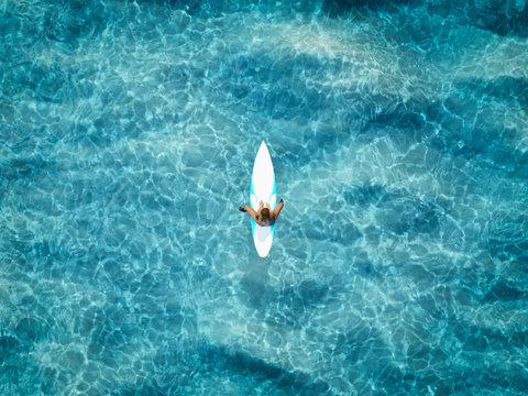 one surfer on the ocean. 3d rendering