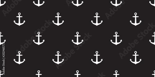 Anchor Seamless Pattern Helm Vector Maritime Nautical Sea Ocean Boat