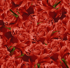 Vintage floral red  beautiful background.  Flower composition. Bouquet of flowers from  red  roses. Close-up. Nature.