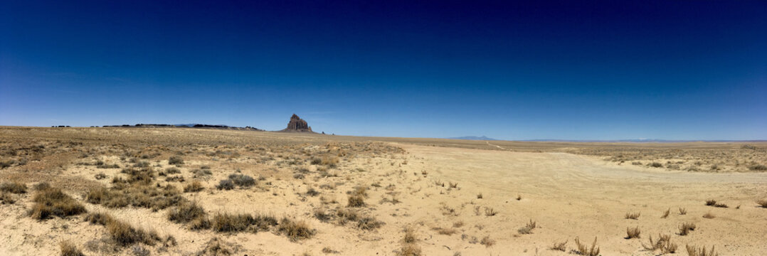 Ship Rock , New Mexico. A land mark for the pioneers