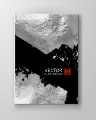 Vector Black and Silver Design Templates