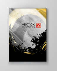 Vector Black White and Gold Design Templates