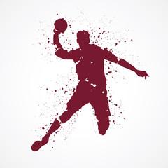 Handball-tâches rouges