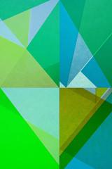 farbenfrohe geometrische Formen - Grafik Design Pop Art - Papier Collage