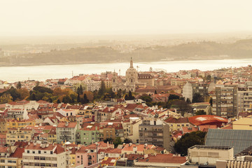 Portugal, Lisbon, view to the city from above