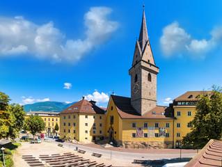 St. Ursulinenkirche, Altstadt von Bruneck, Südtirol, Trentino-Alto Adige