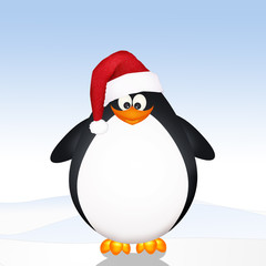 funny penguin Christmas