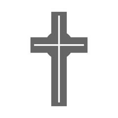 Catholic cross sign. Christian religion symbol. Vector icon.
