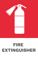 Fire extinguisher sign. Vector.
