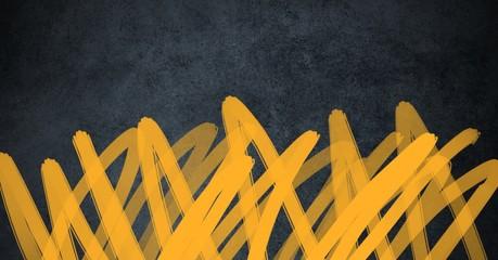 yellow doodles on dark background