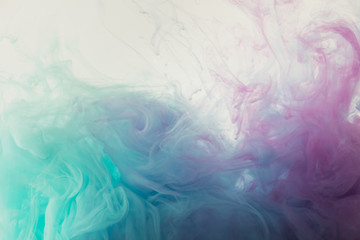 abstract background with flowing blue and purple paint