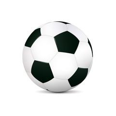 Realistischer Fußball in Schwarz-weiß