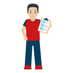 delivery man with check list service
