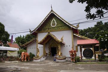 Wat Chonprathan Rangsan for thai people visit and praying respect Gilded Buddha image in Tak, Thailand