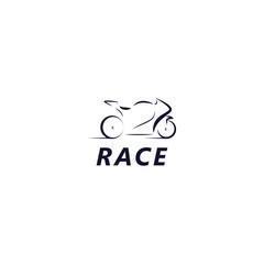 Race Vector Template Design Illustration