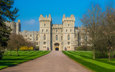 Printed kitchen splashbacks Castle Soldiers stand on guard at Windsor Castle