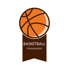 Basketball Tournament Vector Template Design Illustration