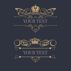 Royal style logo design template. Vector