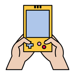 color electronic gamepad console technology in the hands