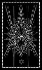 Tarot cards - back design. Hexagram