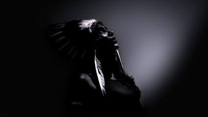 Model disguised as native aborigine