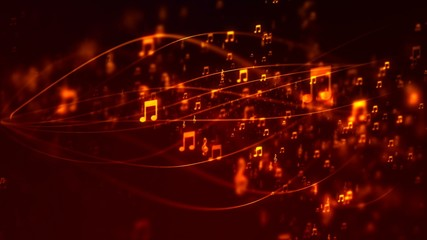 Background with nice flying musical notes