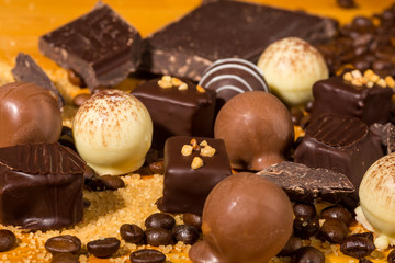 Assorted Chocolate truffle pralines