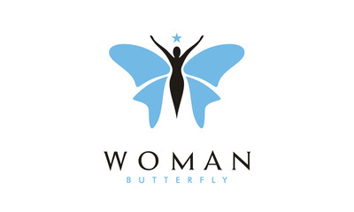 Butterfly Woman logo design inspiration