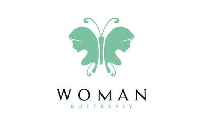 Butterfly Woman logo design inspiration