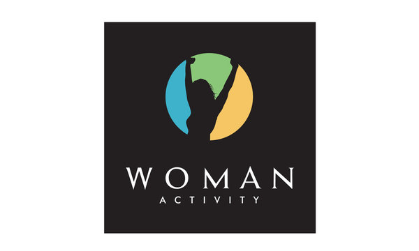Colorful Woman Wellness, Success and Health logo design
