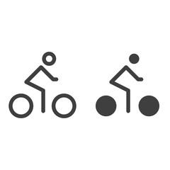 Man riding bike icon