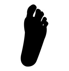 Simple, human foot silhouette