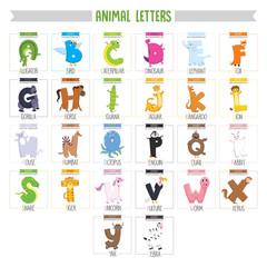 Illustrated Animal Letters
