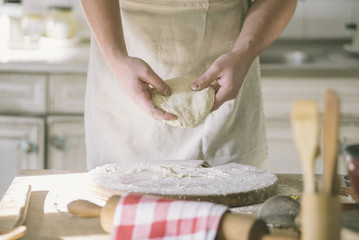 Kneading and making dough