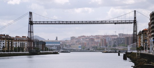 Suspension bridge, Portugalete-Getxo, Biscay, Basque Country