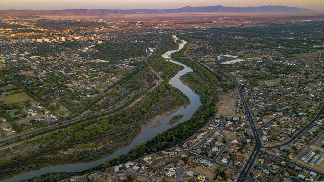 Rio Grande River in Albuquerque, New Mexico