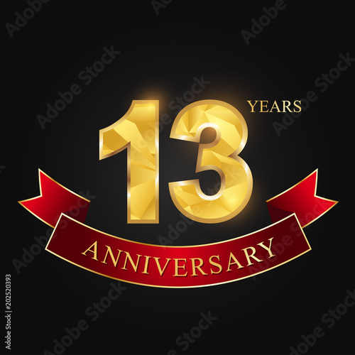 Anniversary Anniversary 13 Years Anniversary Celebration Logotype