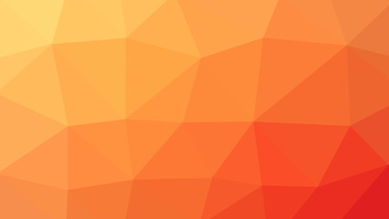 8K Abstract Triangle Polygon Orange Background
