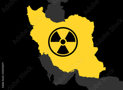 Iran And Nuclear Power Iranian Country And Symbol Of Atomic
