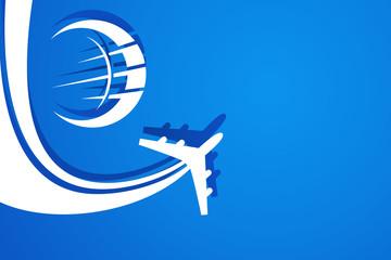 Wall Mural - Flugzeug rund um die Welt