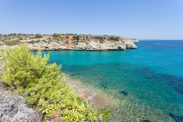 Calas de Mallorca, Mallorca - A wonderful sight onto the bay of Calas de Mallorca