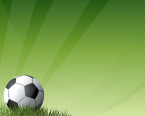 Football with dark and light green background
