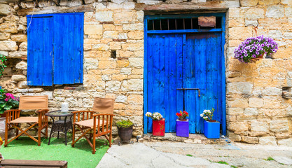 Deurstickers Cyprus Charming streets of old traditional villages of Cyprus island