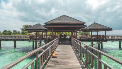 Wooden Gazebo at Tropical Beach