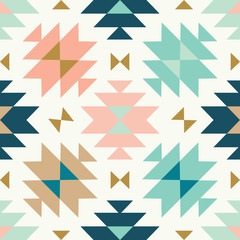 vector kilim tribal cream green and pink seamless repeat backround